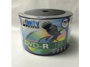 100-Pack 16X efinity Logo DVD-R DVDR Blank Storage Media Disc 4.7GB 120Min