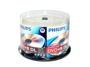 50-PK Blank DVD+R DL Dual Double Layer Disc Cake Box