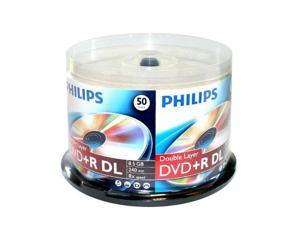 50-PK Blank DVD+R DL Dual Double Layer Disc Cake Box