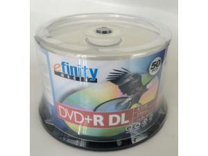 50PK eFinity Logo 8x DVD+R DL Dual Layer Disc Cake Box