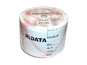 100 Ritek Ridata 8X White Inkjet HUB Printable DVD-R DVDR Blank Disc 4.7GB