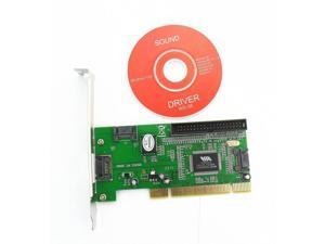 New 3 Port SATA + IDE Serial HDD ATA PCI Card VIA VT6421A