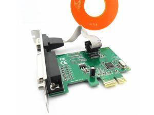 New PCI-E RS232 Serial Port Parallel Printer Port Card Adapter