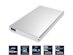 Ultra Slim USB 3.0 to 2.5-Inch SATA External Aluminum Hard Drive External Enclosure