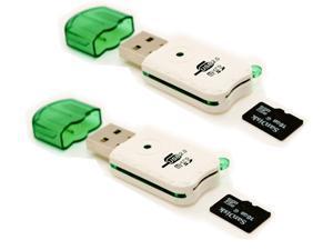 Portable USB 2 Adapter MicroSD SDHC Memory Card Reader/Writer Flash Drive Lot 2