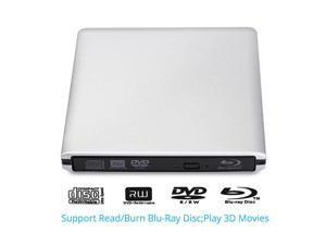 USB3.0 External 3D Blu-ray Disc Burner BD/DVD/CD Burner Drive for Apple Macbook