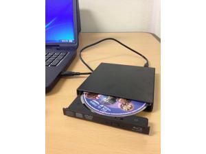 USB External 6x Blu Ray Burner & Blu-Ray/DVD/CD Burner - PC, Laptop - Black