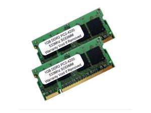 2GB Kit 2 X 1GB DDR2 PC2-4200 SODIMM PC2 533 MHz 200 pins LAPTOP MEMORY