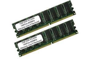 2 X 1GB 2GB Kit PC3200 LOW DENSITY DDR 400 Mhz 184pin Desktop MEMORY