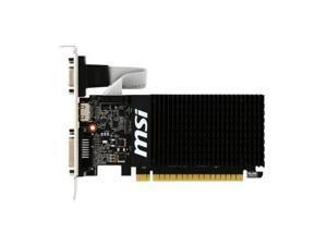 MSI NVIDIA GeForce GT 710 2GB DDR3 VGA/DVI/HDMI Low Profile pci-e Video