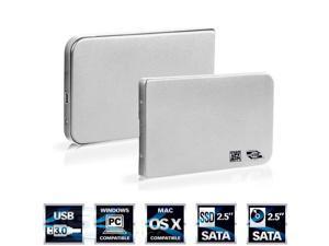 "Aluminium 2.5"" USB 3.0 SATA HDD Hard Drive Disk External Enclosure Case Silver"