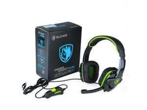 SADES SA-708 Stereo Gaming Headphone Headset with Microphone for PC Laptop Green
