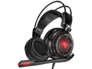 Sentey GS-4730 Virtual 7.1 USB DAC Gaming Headset Arches with Vibration (Black)