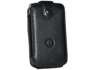 Motorola Flip Leather Case Cover Pouch - Black