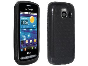 Verizon (OEM) High Gloss Silicone Protective Cover for LG Vortex VS660 - Black
