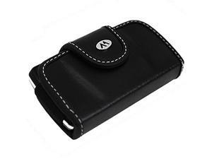Milante Abruzzi Small Horizontal Leather Case - Black