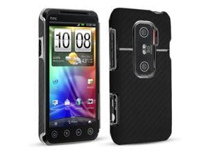 Technocel Pleather Protective Back Cover for HTC EVO 3D (Graphite Black)