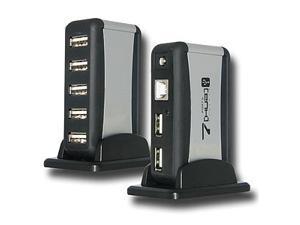 7 Port Hi-Speed Compact USB HUB for Digital Cameras, Laptops, External Drives