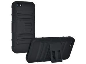 Hybrid Kickstand Case Cover For iPhone 5 (Black/Black)