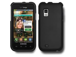 Rubberized Protector Case Cover For Samsung Mesmerize SCH-I500/ Fascinate - Black