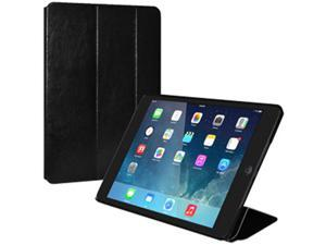 Thin Folio Case  Faux Leather Texture for Apple iPad Air –  Black (Fit All Carriers)
