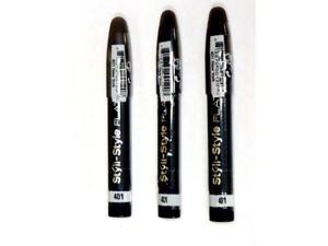 (Lot of 3) Styli-Style Flat Pencil for Eyes, New York 401