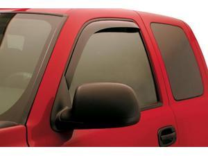 In-Channel Side Window Vents-GMC Sierra 2007-2015-Smoke-Crew Cab, 1500 Only fits to 2013  (4 PC Set)