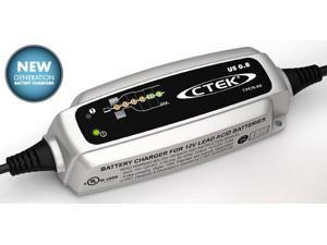Battery Charger-US 0.8, 6 step fully automatic charging cycle, perfect for charging smaller 12V batteries