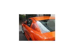 Side Window Louver-Ford Mustang 2010-2014-Smoke-(2 PC Set)