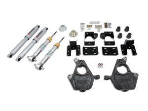 """Belltech LOWERING KIT  82-97 Chevrolet S10/S15 Pickup Blazer (4WD, exc. ZW-7 option) 1"""" or 3"""" F/3"""" R drop W/ Nitro Drop II Shocks"""