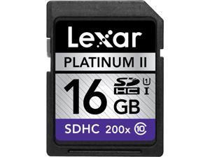 Lexar Platinum II 16GB Secure Digital High-Capacity (SDHC) Flash Card Model LSD16GBBNL200