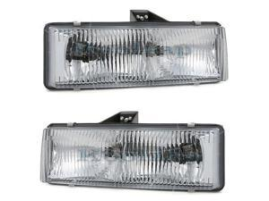 95-05 Chevy Astro Van GMC Safari Headlight Headlamp Composite Halogen Front Head Light Lamp Set Pair Left Driver And Right Passenger Side
