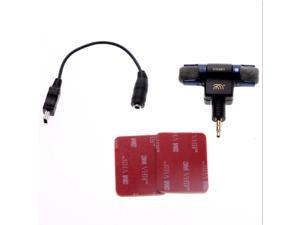 3.5mm Microphone With Adapter Cable 3M Tape For GoPro Hero 3 3+ 4