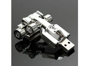 4 / 8 / 32 / 64G GB USB 2.0 Fashion Silver Metal Car Model Flash Stick Memory Pen Thumb Drive Storage U Disk Gift
