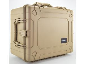 Condition 1 #024 Tan Airtight\Watertight Multipurpose Carrying Hard Case with Pick N Pluck Foam