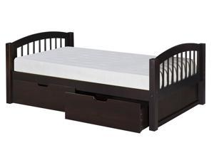 "Arch Spindle Platform Bed with Drawers (Cappuccino) (31 1/2""H x 80 1/2""W x 42 1/2""D"