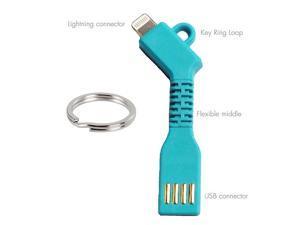 Charge key Charger Sync Flexible Charge Key Lightning to USB Cable - for Apple iPhone 5, 5s, 5c, 6, 6 Plus, iPod Touch, iPod Nano, iPad 4, iPad Air, iPad Air 2, iPad Mini, iPad Mini Retina - Blue