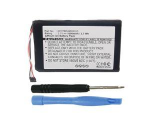 Replacement 361-00035-00, KE37BE49D0DX3 Battery for Garmin Edge 800 & Edge 810 Portable GPS-Enabled Bicycle Computer 010-00899-00, 010-01063-00, 010-01063-05 with Installation Tools
