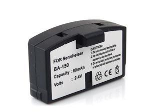 Replacement Extended 80mAh Rechargeable BA 150, BA 151, BA 152 Battery for Sennheiser IR and RF Wireless Headphones