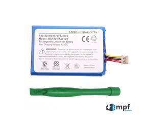 Replacement 1530mAh A00100 BA1001 Battery for Amazon Kindle D00111 (Kindle 1, Kindle I) eReader 170-1001-00 with Free Pry Tool