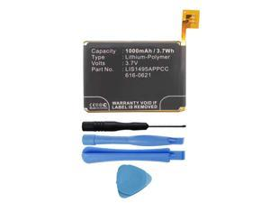 Replacement 616-0619, 616-0621 Battery for Apple iPod Touch 5 (5th Generation) A1421, A1509, 16GB, 32GB, 64GB with Installation Tools