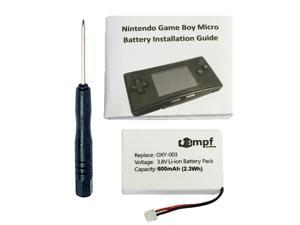 600mAh OXY-003, GPNT-02 Battery Replacement Kit for Nintendo Game Boy Micro OXY-001