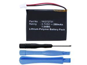 280mAh YK372731 Battery Replacement for Golf Buddy Voice and Golf Buddy VS4 Voice Talking GPS Range Finder with Installation Tools