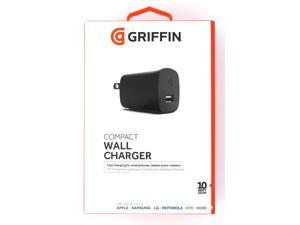 Griffin 10W USB Wall Charger for iPad Tablets or Smartphones - Black