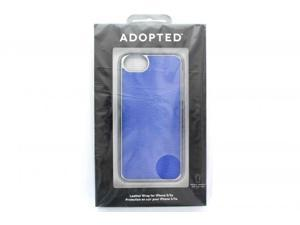 ADOPTED Leather Wrap Case for Apple iPhone 5 - Blue/Silver