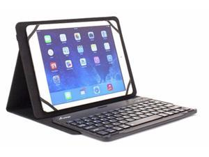 M Edge Universal XL Folio Pro Bluetooth Keyboard Case for 9-10 inch Tablets