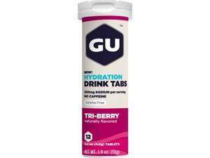 GU Hydration Drink Tabs Sport Nutrition : Triberry - Box of 8 Tubes