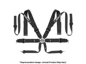 """Sparco 04827TWNR 8Point P-3 Double Shoulder Belt Black 3"""" Fits:UNIVERSAL 0 - 0"""