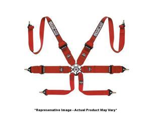 """Sparco 04837RHRS 6Point P-3 Hans Formula Belt Red 3"""" Fits:UNIVERSAL 0 - 0 NON A"""