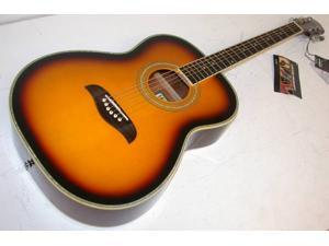 Oscar Schmidt by Washburn OF2 Folk Style Acoustic Guitar, Sunburst, OF2OTS